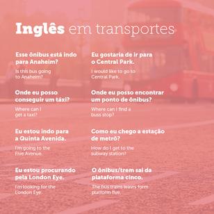 Usando Inglês em contextos de Viagens - Transportes.