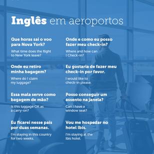 Usando Inglês em contextos de Viagens - Aeroporto.