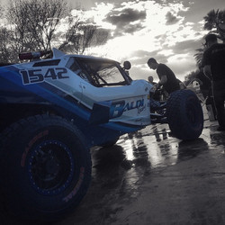 Cleaning up after time trials today for the Mint 400! #baldiracing #mint400 #2015 #bestinthedesert #