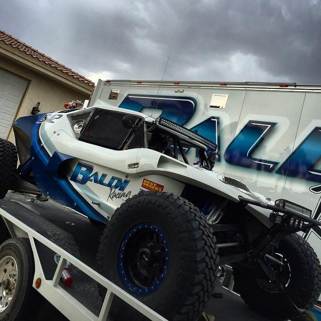Ready for the Vegas to Reno race! 👍🏼 #baldiracing #vegastoreno #offroad #desert #race #team #vegas