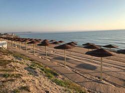 Umbrele de soare plaja Vama Veche