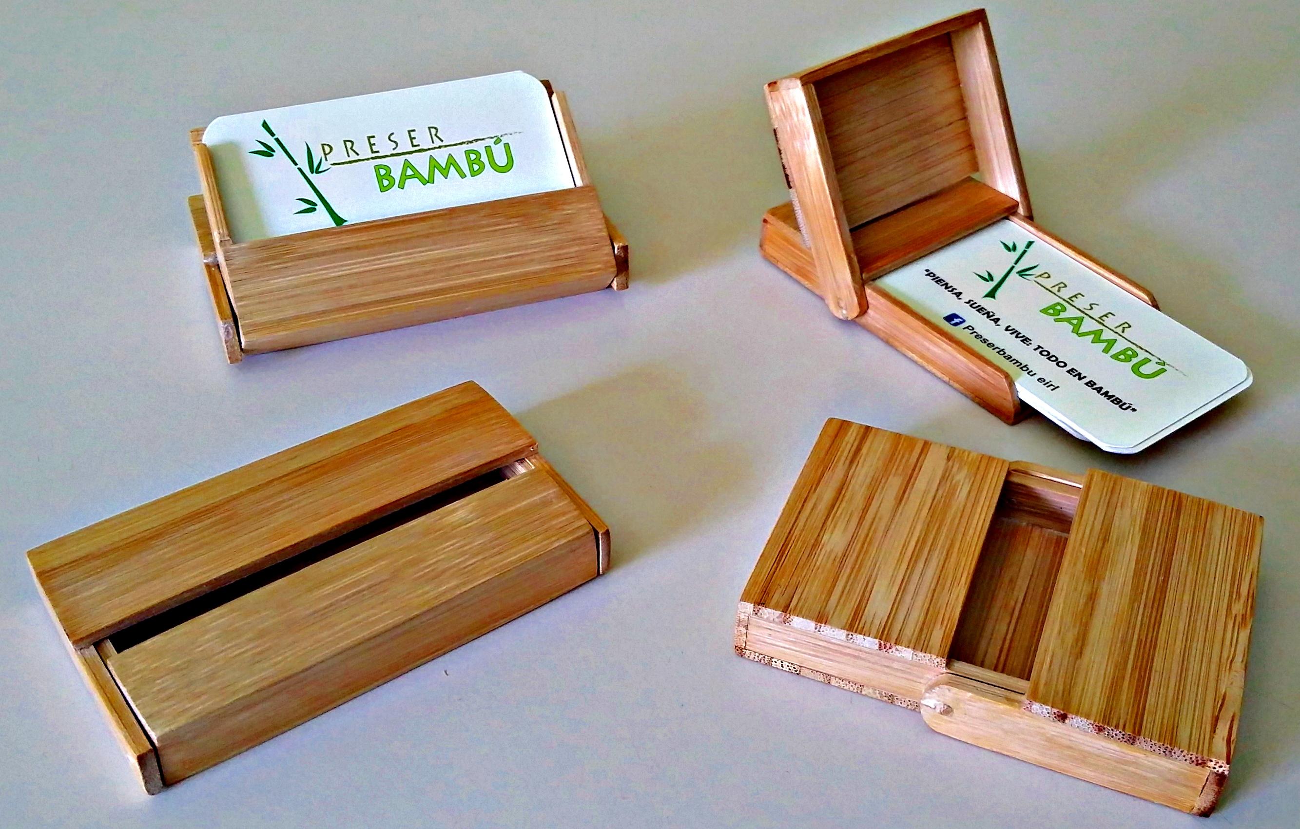 Tarjeteros de bambú