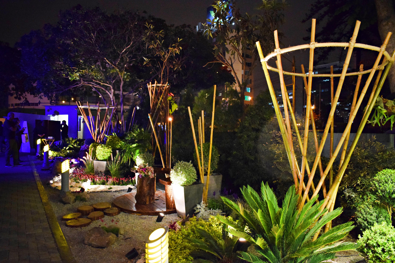 Decoración con cañas de bambú