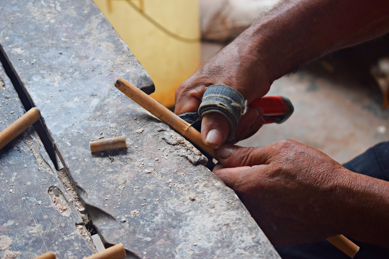 Artesanías con bambú