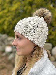 Narragansett hand knit hat ecru