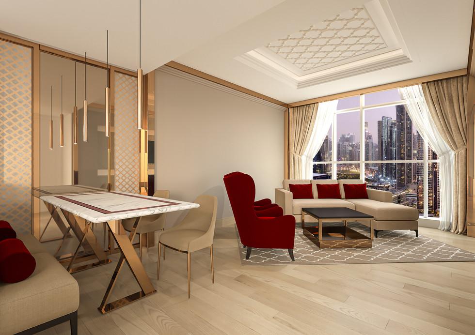 Delux  Hotel Apartment -Living Room