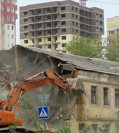 Экскаватор для сноса зданий, разборка  сооружений