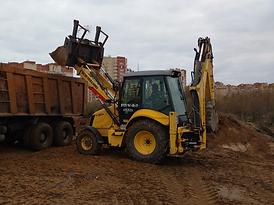 Трактор погрузчик джисиби арендовать в Электростали, Ногинске и Ногинском районе