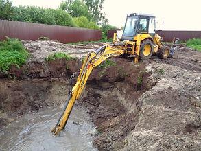 Копка пруда,выкапывание траншей, рытье котлованов. Вызвать трактор можно по телефону +7(966)190-55-66.