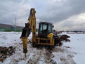 Аренда трактора с гидромолотом в Электростали, Ногинске и Ногинском районе. +7(966)190-55-66
