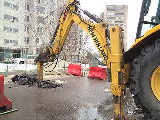 Аренда гидромолота. Заказ трактора с отбойником в Электростали и Ногинске.