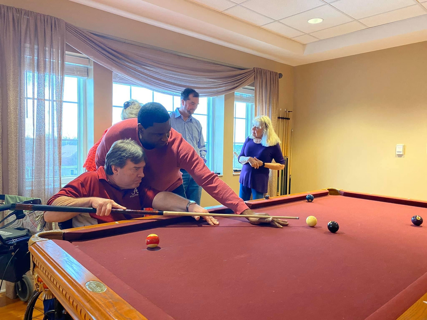 Pool Tournament with our friends from WVUA's sports show Crimson Cover