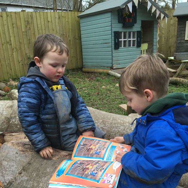 Friends sharing a Story