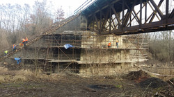 Komplexní oprava opěr mostu Březno u Chomutova