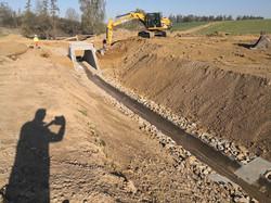 Výstavba propustku a odvodňovacího rigol