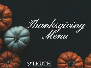 My Thanksgiving Menu