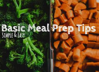 Basic Meal Prep Tips