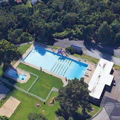 Aerial Shot Memorial Pool