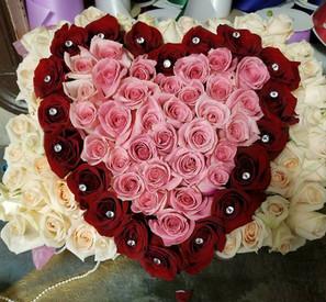 R65 - HEART SHAPED ROSE BOX