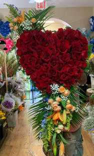 RH23 - ALL ROSE HEART WITH CLUSTERS