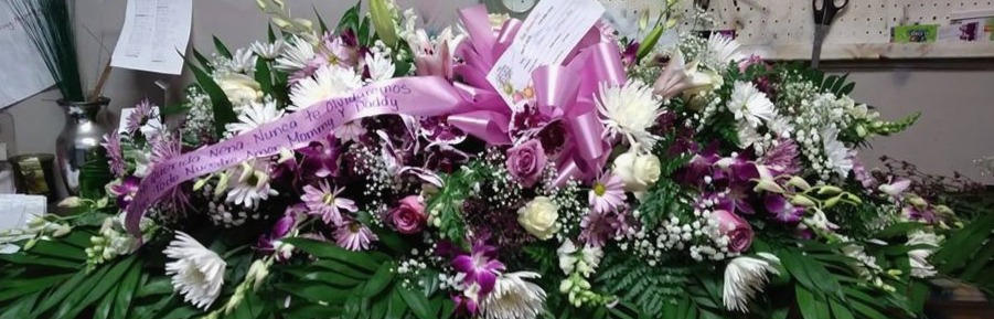 FULL CASKET SPRAY WITH ORCHIDS