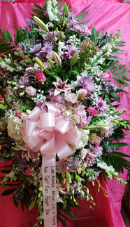 RS03 - LARGE SPRAY WITH ORCHIDS