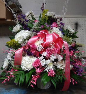 RB12 - LARGE BASKET WITH ORCHIDS