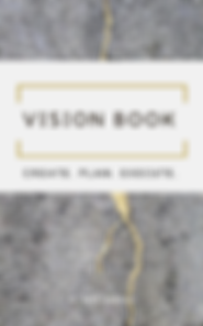 vision book, 2020 vision, journals, vision board party, create, plan, execute