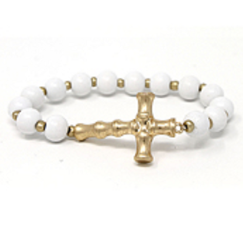 Bamboo Cross Bracelet