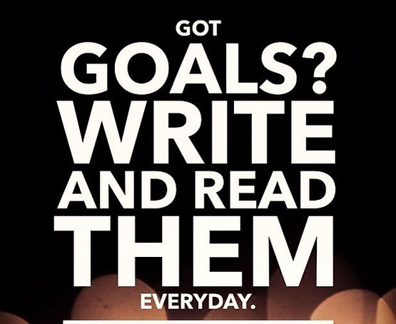 Write goals in your vision book