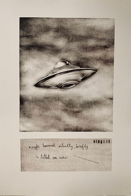 """Sighting no. 18""-Maniere Noire Lithograph"