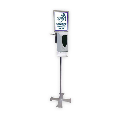 White X Dispenser with Sign