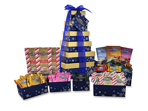 Ghirardelli 6 Tier Tower Holiday Chocolate Gift Set