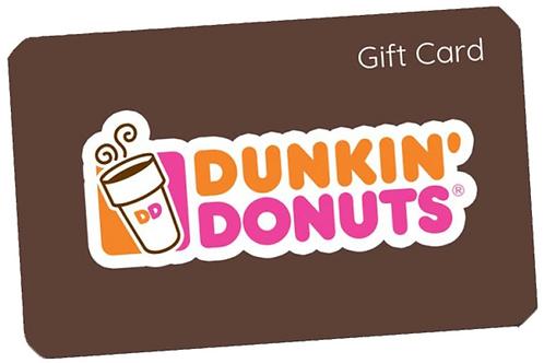 Dunkin' Donuts Gift Card $5 - $25
