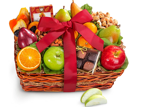 Fruit and Gourmet Basket Gift
