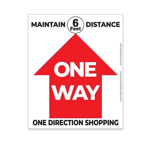 6 Feet Distance Floor Graphic