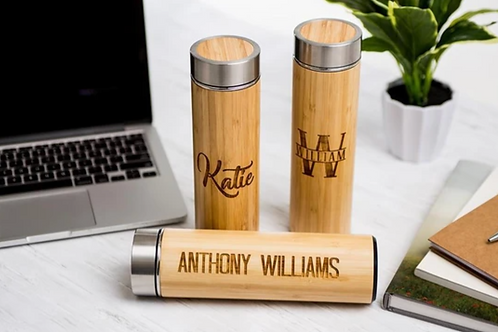 Personalized Insulated Bamboo Water Bottles