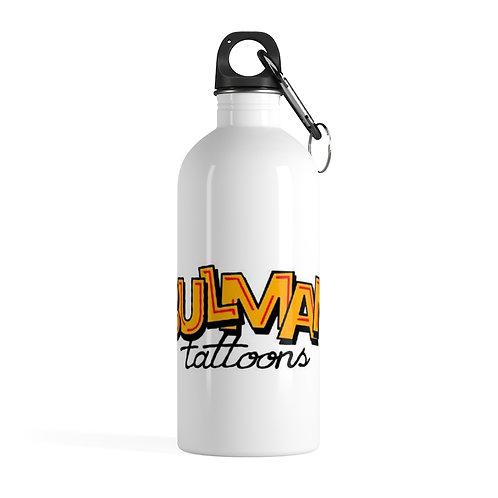 Bulman Tattoons logo - Stainless Steel Water Bottle