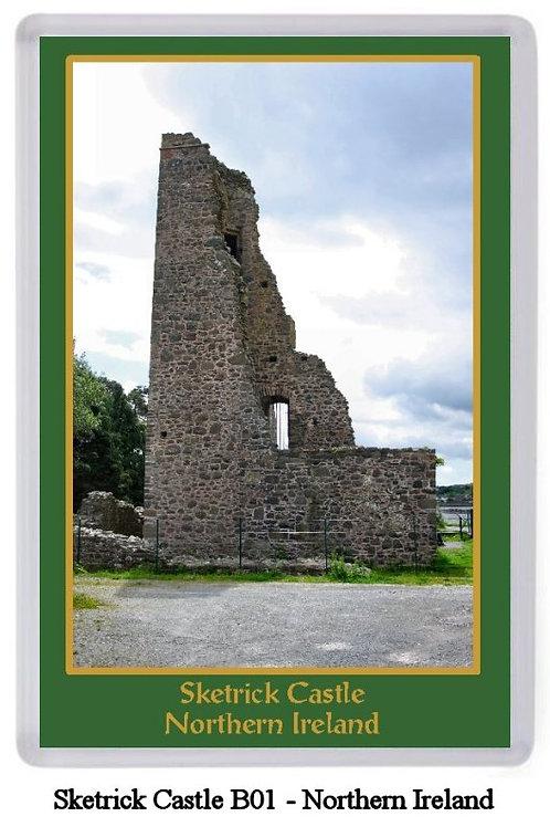Sketrick Castle Fridge Magnet