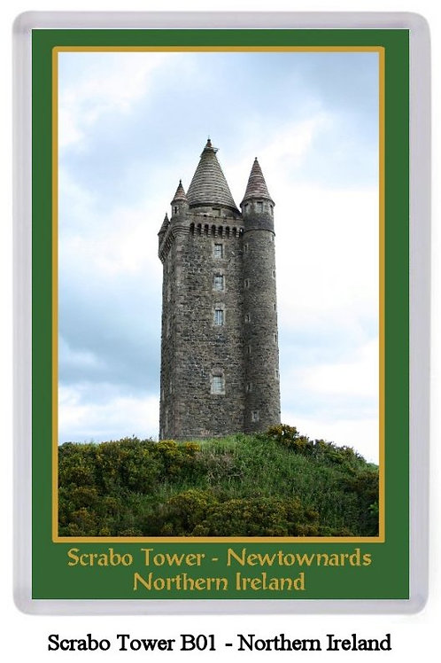 Scrabo Tower Fridge Magnet