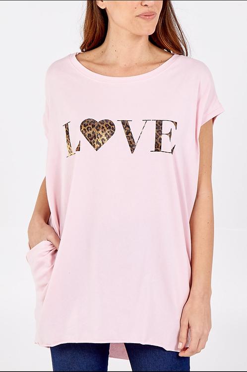 Love long 2 pocket T-shirt