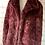 Thumbnail: Long Tall Sally faux fur burgundy coat
