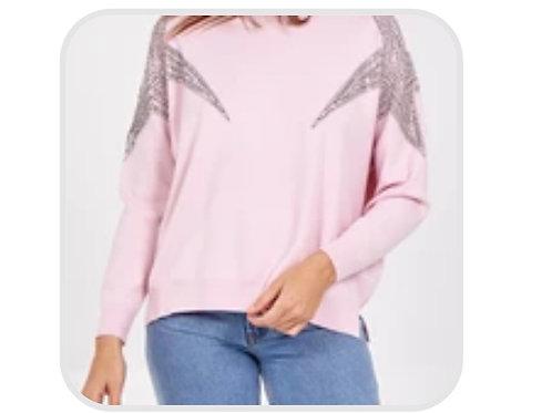 Pink diamanté jumper