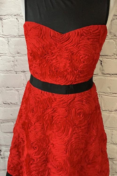 Hobbs red dress size 10 like new