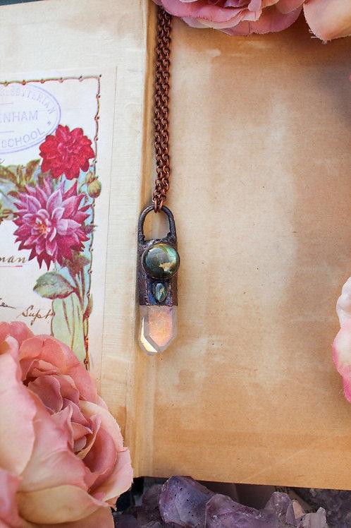 Quartz angel necklaces handmade