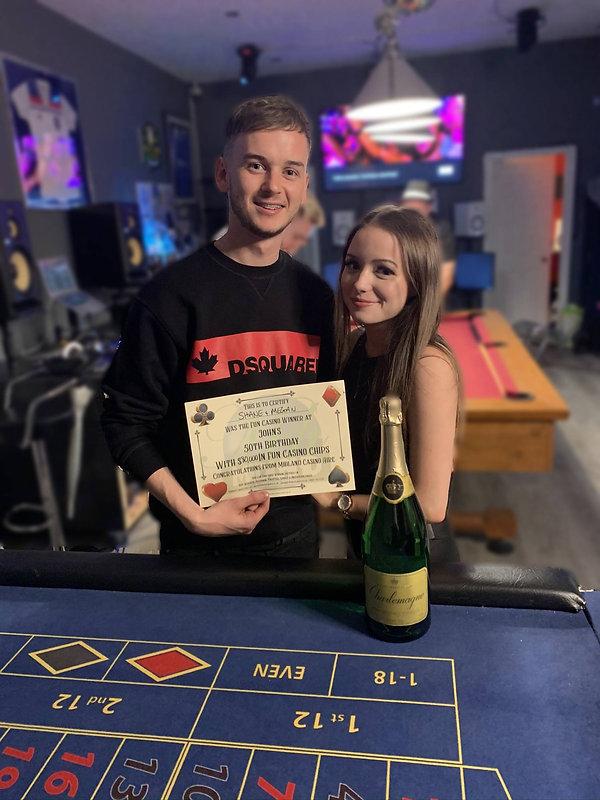 Shane & Megan Fun Casino Winners