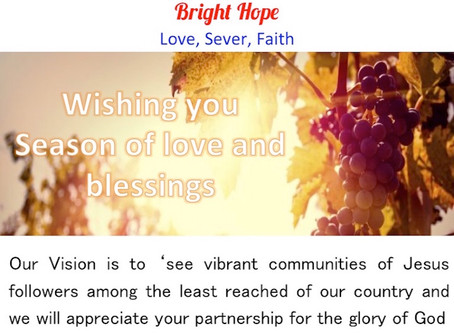 Bright Hope Pakistan wishing you season of Love and Blessings