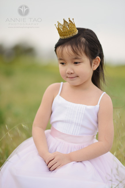 East-Bay-styled-children-photography-pink-princess-with-crown-looking-down