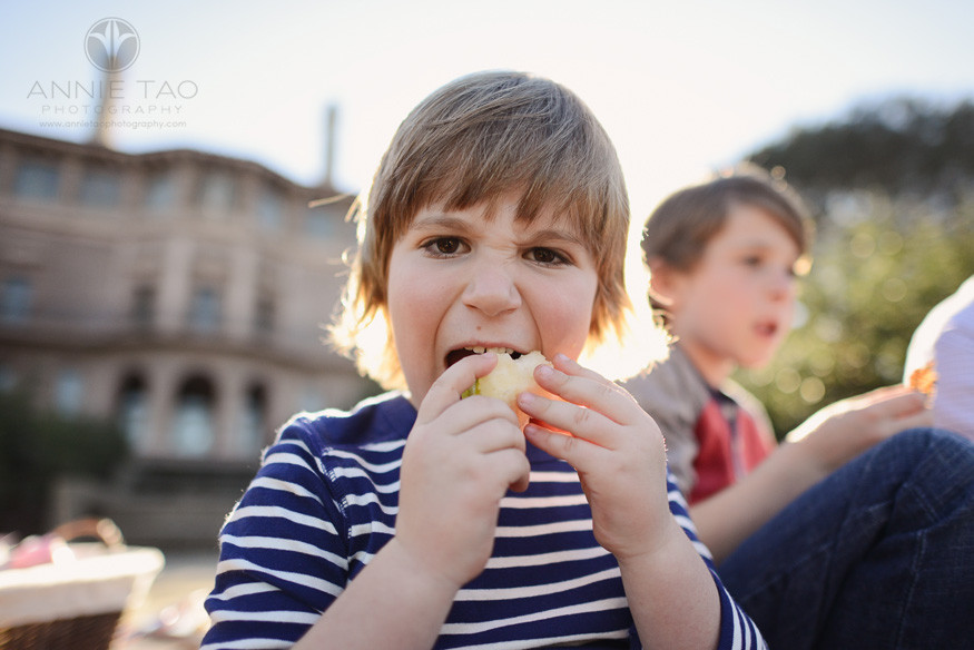 Bay-Area-lifestyle-children-photography-young-boy-eating-a-pear