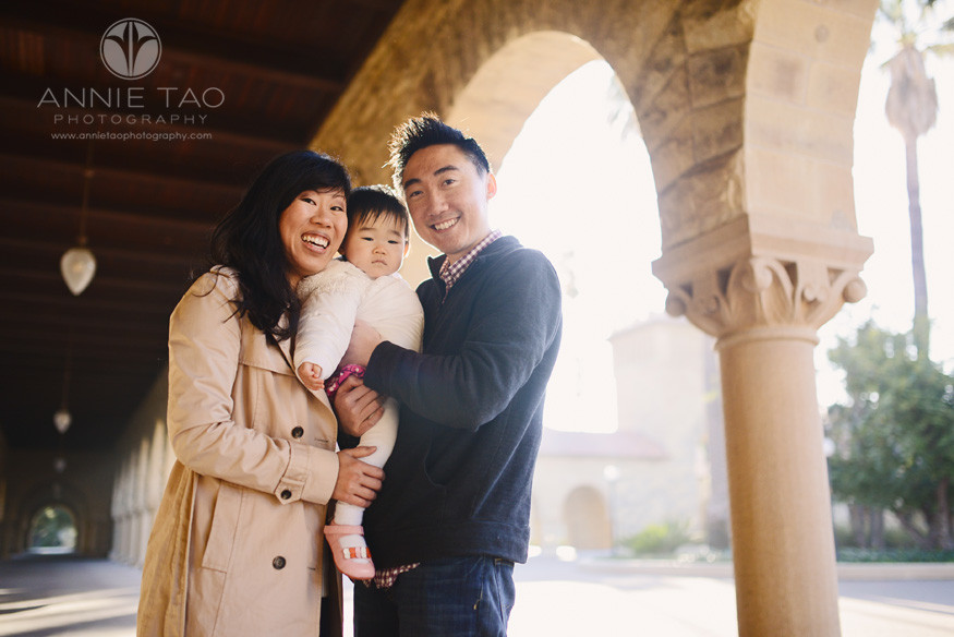 San-Francisco-Bay-Area-lifestyle-family-photography-family-of-three-standing-by-archway
